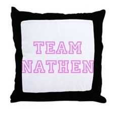 Pink team Nathen Throw Pillow