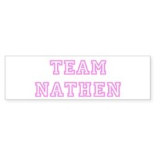 Pink team Nathen Bumper Car Sticker