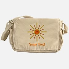 Summer Sun with Text. Messenger Bag