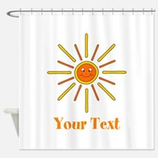 Summer Sun with Text. Shower Curtain