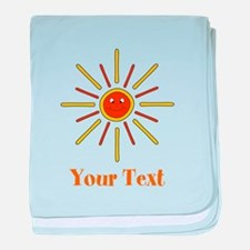 Summer Sun with Text. baby blanket