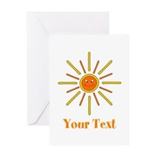 Summer Sun with Text. Greeting Card