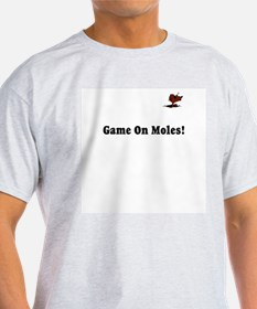 Game on Moles! Ash Grey T-Shirt