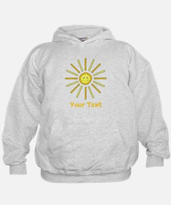 Happy Summer Sun and Text. Hoodie