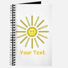 Happy Summer Sun and Text. Journal