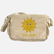 Yellow Happy Sunshine. Text. Messenger Bag