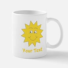 Yellow Happy Sunshine. Text. Mug
