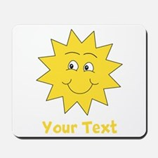 Yellow Happy Sunshine. Text. Mousepad