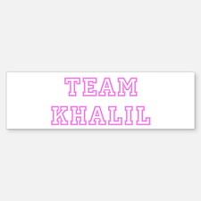 Pink team Khalil Bumper Bumper Bumper Sticker