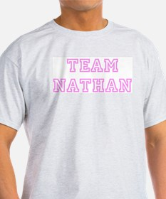 Pink team Nathan Ash Grey T-Shirt