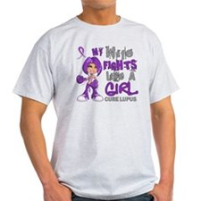 Fights Like a Girl 42.9 Lupus T-Shirt