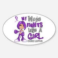 Fights Like a Girl 42.9 Lupus Decal