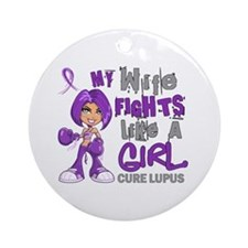Fights Like a Girl 42.9 Lupus Ornament (Round)