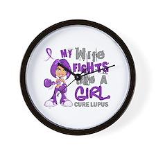 Fights Like a Girl 42.9 Lupus Wall Clock