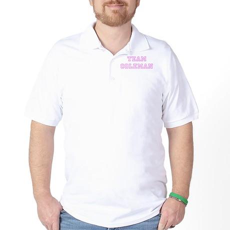 Pink team Coleman Golf Shirt