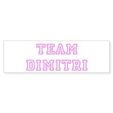 Pink team Dimitri Bumper Bumper Sticker