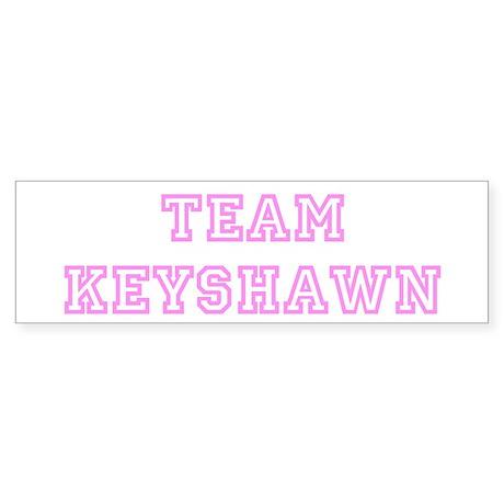 Pink team Keyshawn Bumper Sticker