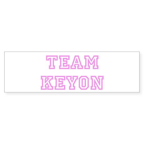 Pink team Keyon Bumper Sticker