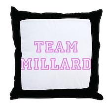 Pink team Millard Throw Pillow