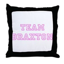 Pink team Braxton Throw Pillow