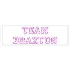 Pink team Braxton Bumper Bumper Sticker