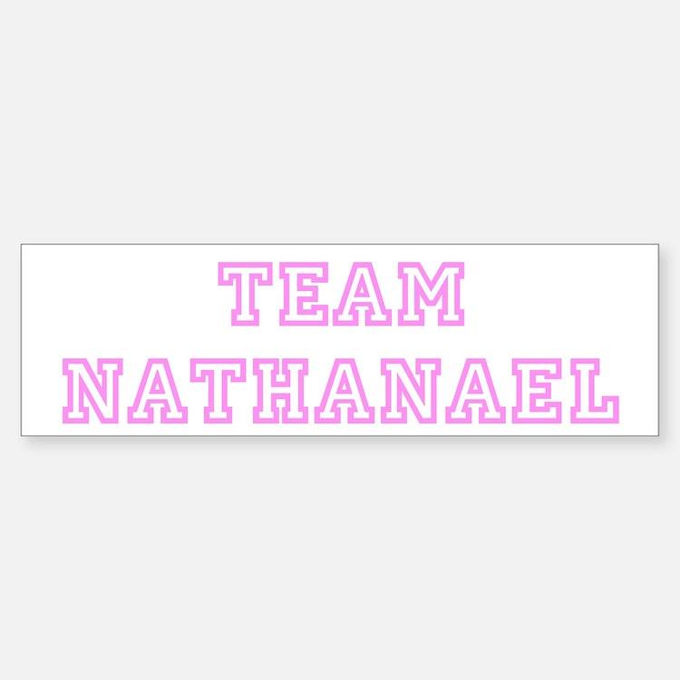 Pink team Nathanael Bumper Bumper Bumper Sticker
