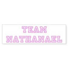 Pink team Nathanael Bumper Bumper Sticker