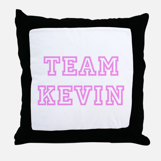 Pink team Kevin Throw Pillow