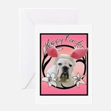 Bulldog Easter Greeting Card