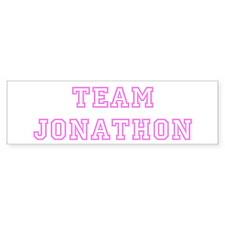 Pink team Jonathon Bumper Bumper Sticker