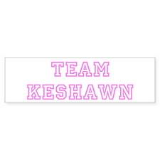 Pink team Keshawn Bumper Bumper Sticker