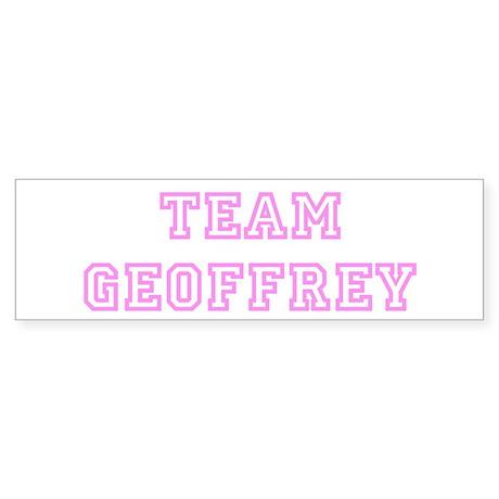 Pink team Geoffrey Bumper Sticker