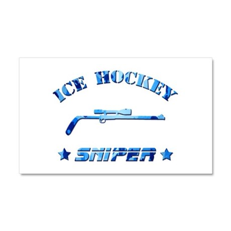 Ice Hockey Sniper (blue camo) Car Magnet 20 x 12