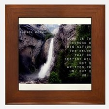 Hope Is The Bedrock - Barack Obama Framed Tile
