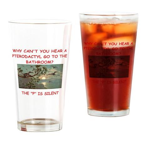 dinosaur joke Drinking Glass