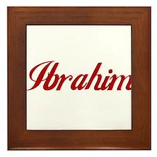 Ibrahim name Framed Tile
