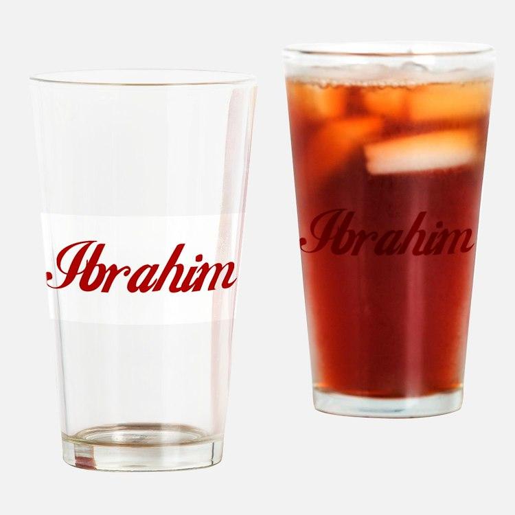 Ibrahim name Drinking Glass