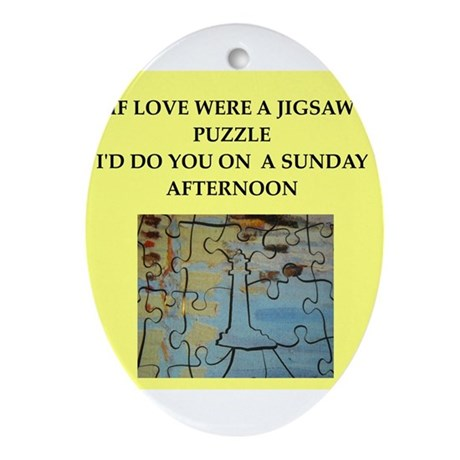 JIGSAW puzzle Ornament (Oval)