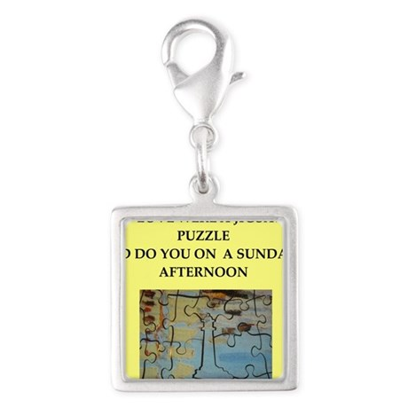 JIGSAW puzzle Silver Square Charm