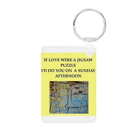 JIGSAW puzzle Aluminum Photo Keychain