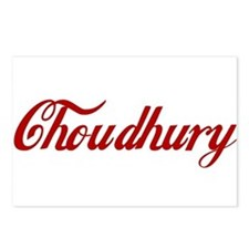 Choudhury name Postcards (Package of 8)