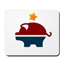 Moneyocrat party logo Mousepad