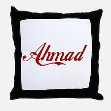 Ahmad name Throw Pillow