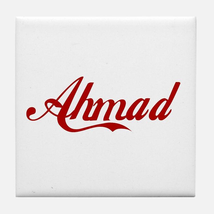 Ahmad name Tile Coaster