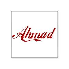 "Ahmad name Square Sticker 3"" x 3"""