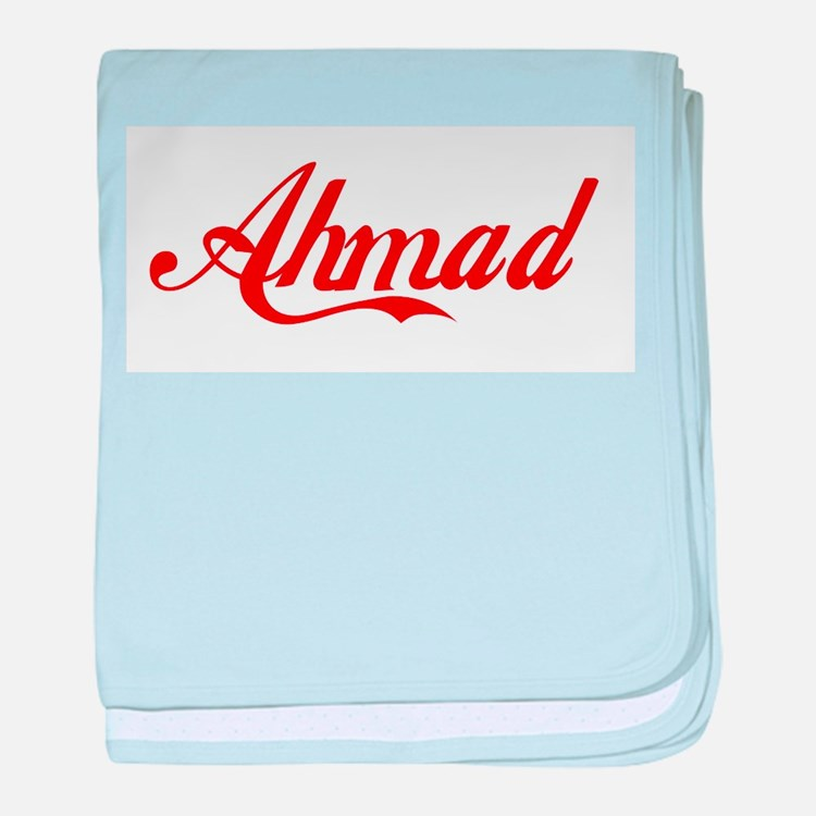 Ahmad name baby blanket