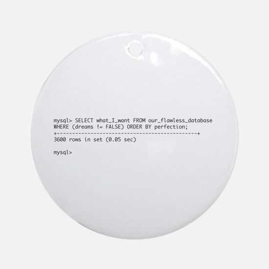 Tattoo-Ready Query Ornament (Round)