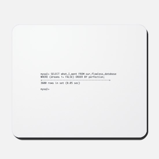 Tattoo-Ready Query Mousepad