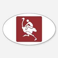Ostrich Farm&Riding - South Africa Oval Decal