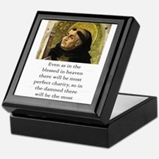 Even As In The Blessed - Thomas Aquinas Keepsake B